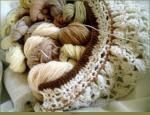 Victoriana crocheted shawl