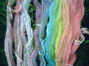 Angora yarn in hanks