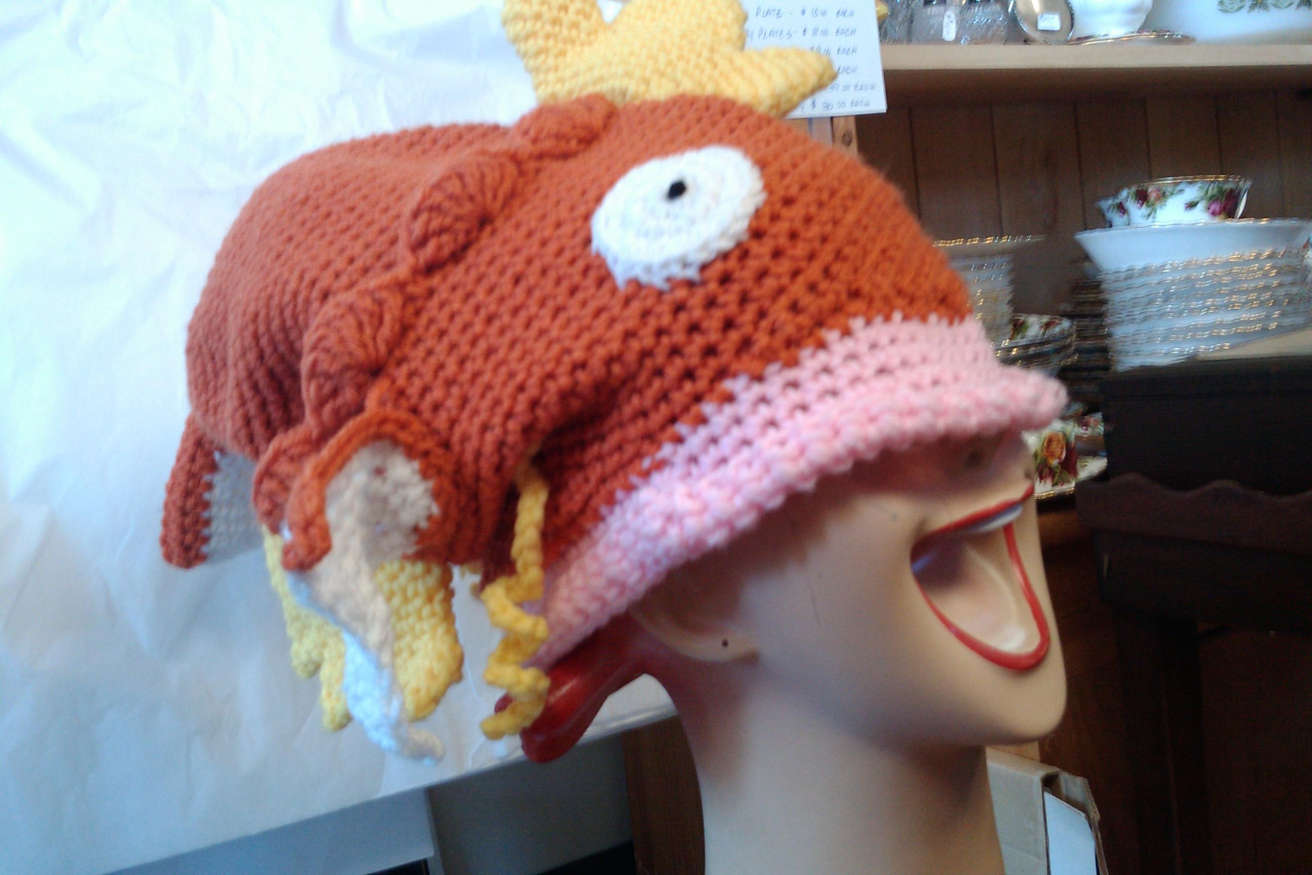 Magikarp hat pattern | West Coast Fibre Arts: Super, Natural