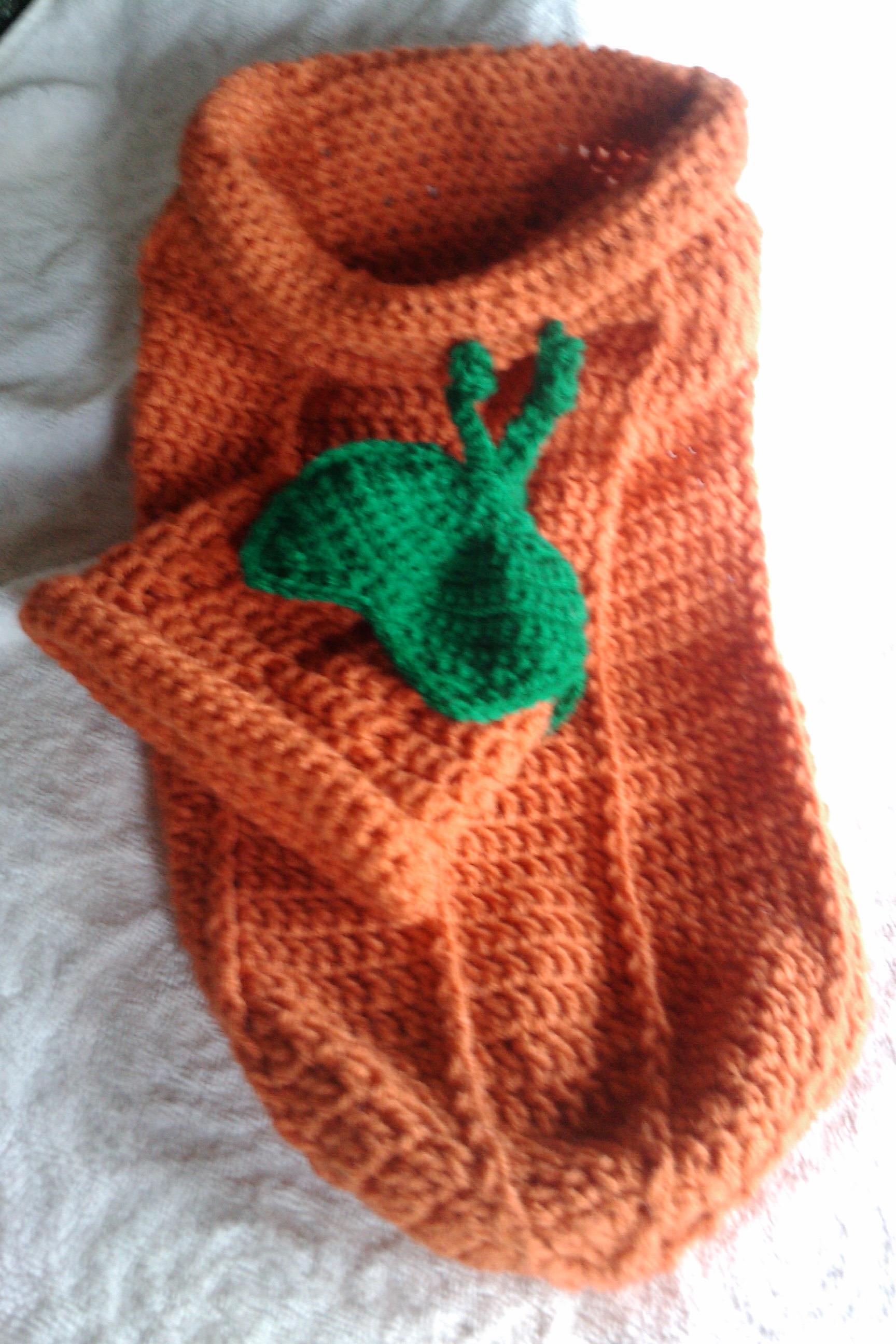 Free Crochet Pattern For Pumpkin Baby Cocoon With Hat : Thanksgiving Pumpkin Hat & Baby Cocoon West Coast Fibre ...
