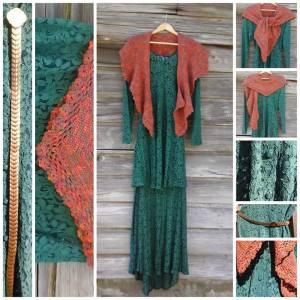 lady edith green dress