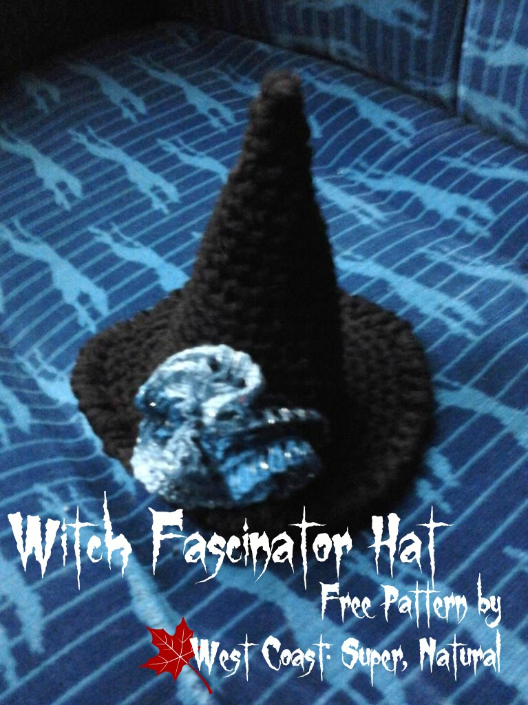 Free Crochet Witch Hat Pattern West Coast Fibre Arts Super Natural