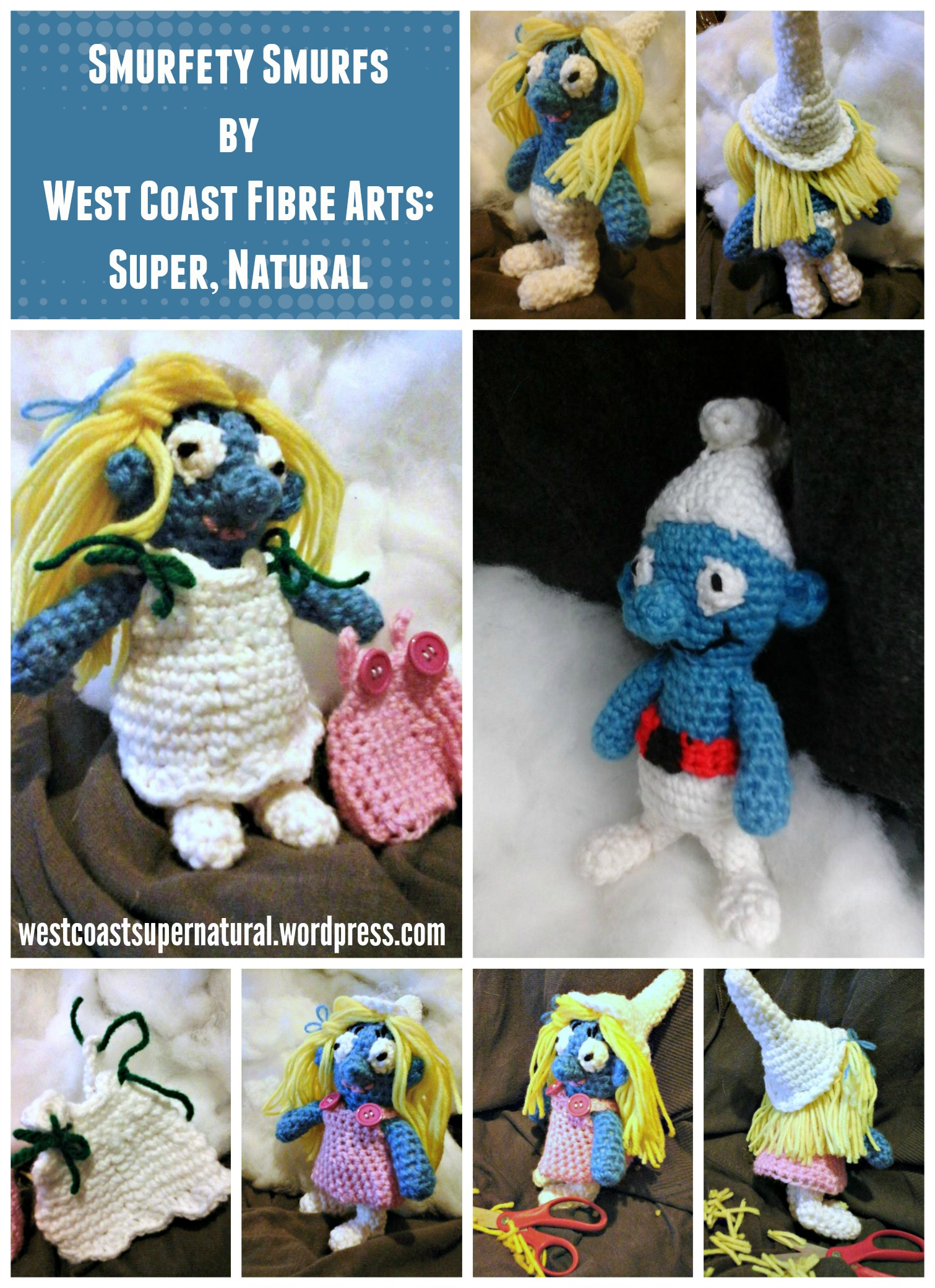 Smurf Smurfety Smurfette! | West Coast Fibre Arts: Super, Natural