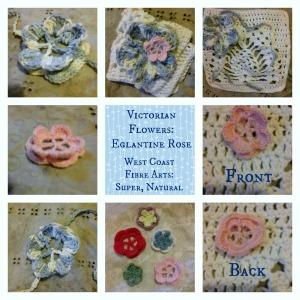 Victorian Flowers Eglantine Rose collage