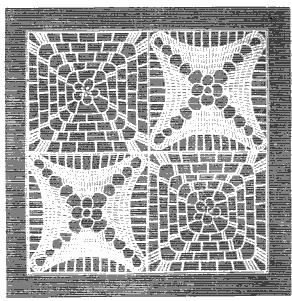counterpane Godey's 1862 crochet