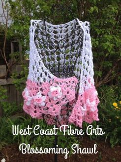 Blossoming Shawl pink daffodils 1